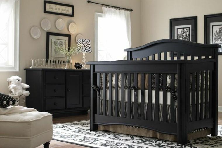 decora habitacion bebe muebles negros ideas