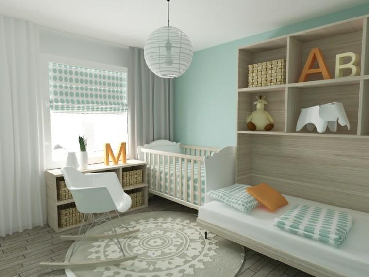 decora habitacion bebe pared color azul ideas