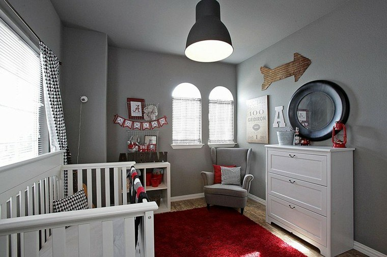 decora habitacion bebe pared gris ideas