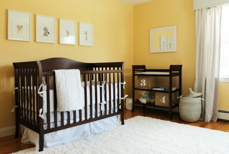 decora habitacion bebe paredes amarillas ideas