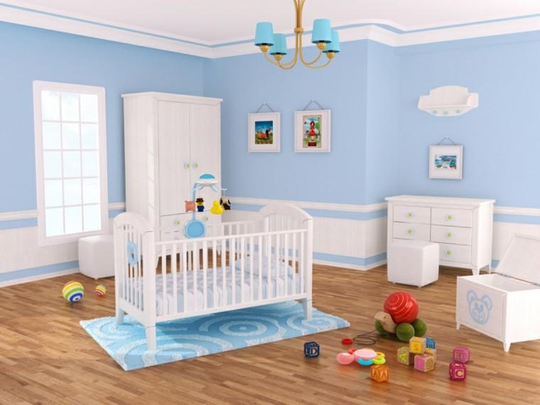 decora habitacion bebe paredes azules ideas