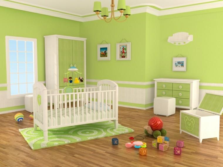 decora habitacion bebe paredes verdes ideas