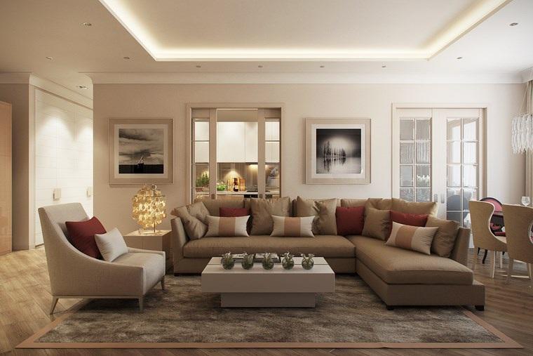 Decorar salon peque o con estilo y modernidad - Cuadros decoracion salon ...