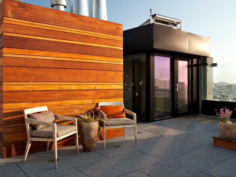 decorar terrazas urbanas macetas plantas jardineras