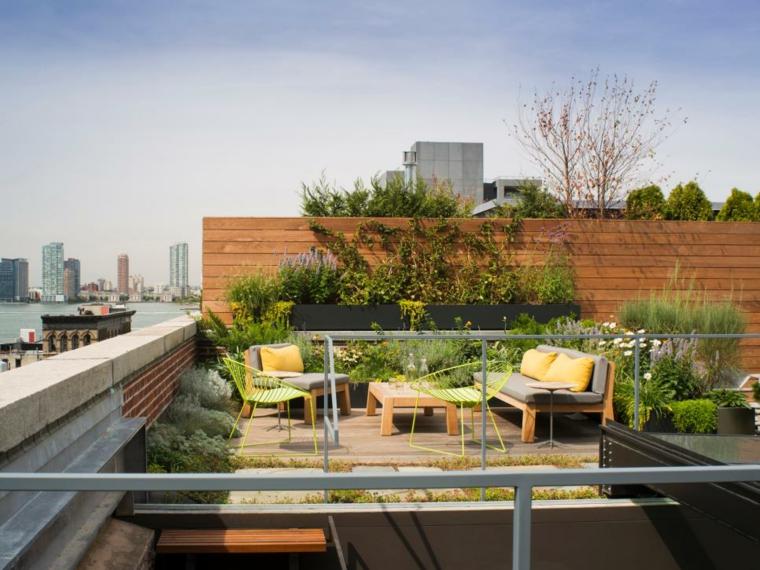 decorar terrazas urbanas plantas jardines flores
