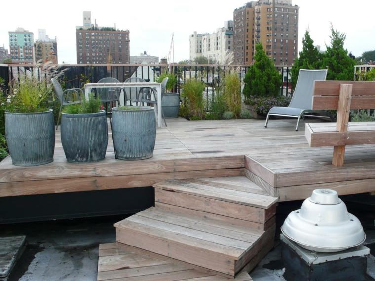 decorar terrazas urbanas soluciones maderas suelos