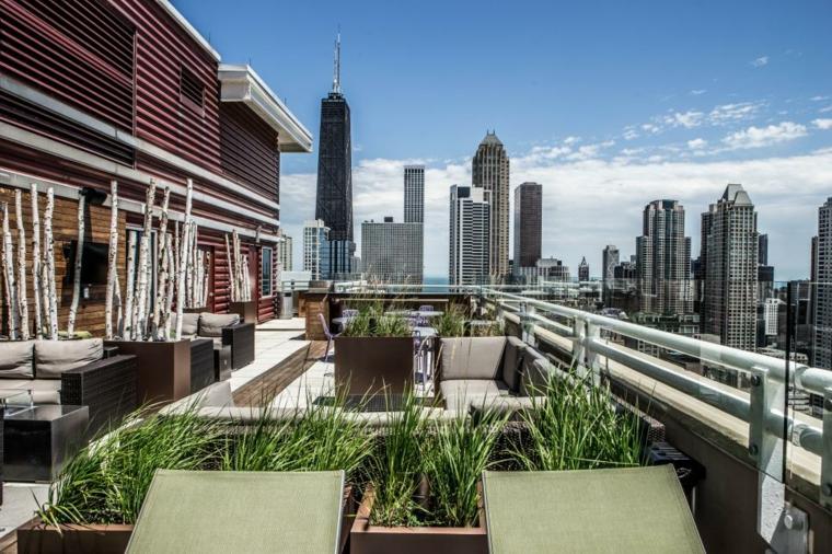 decorar terrazas urbanas soluciones naturales plantas