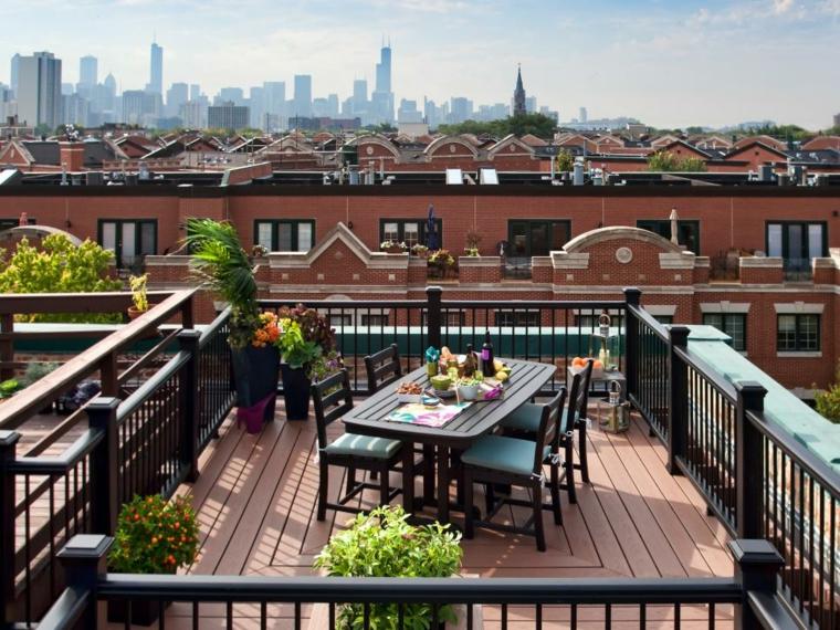 decorar terrazas urbanas soluciones pequeña plantas