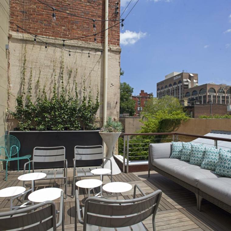 decorar terrazas urbanas soluciones metales