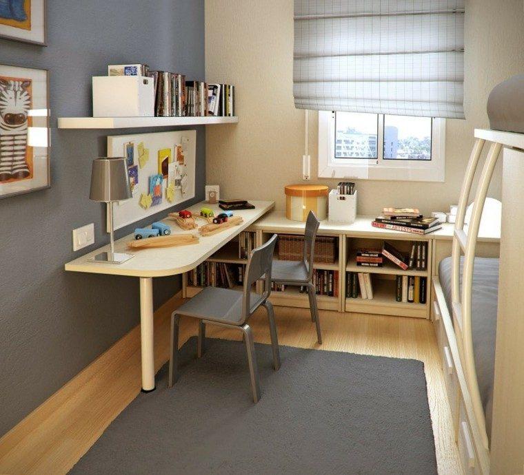 dormitorio infantil beige gris