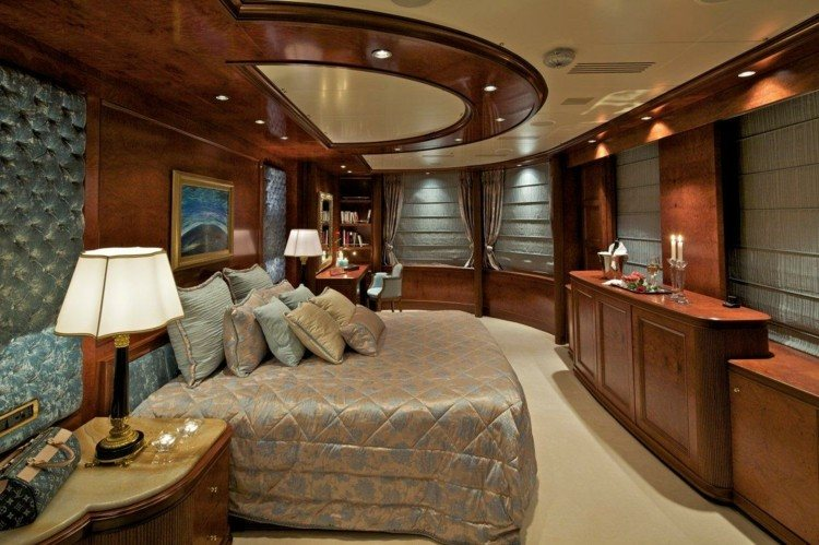 dormitorio de madera estilo saten