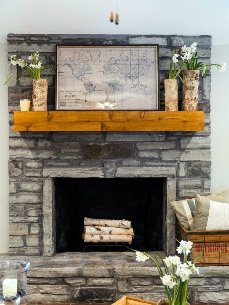 decoracion casas rusticas soluciones flores chimeneas