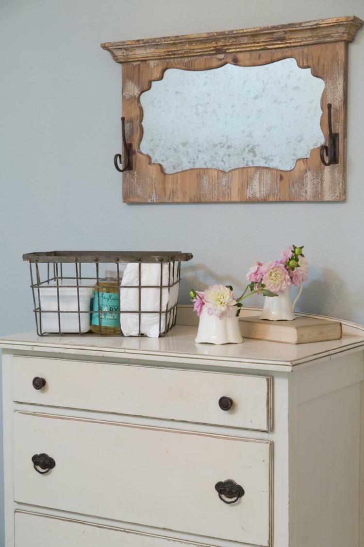 decoracion casas rusticas soluciones lampara espejos flores