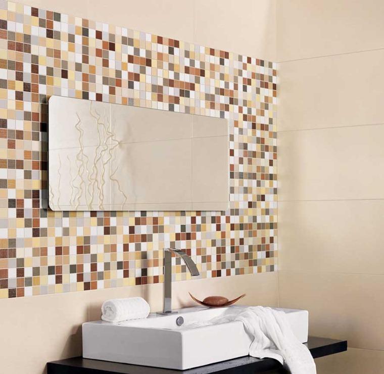 Ba os modernos revestimientos for Ideas para revestir paredes
