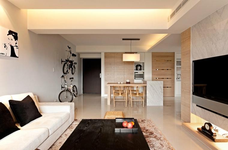 diseño moderno salón luces