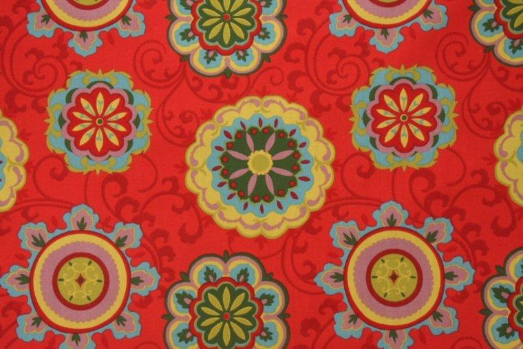red patterned design