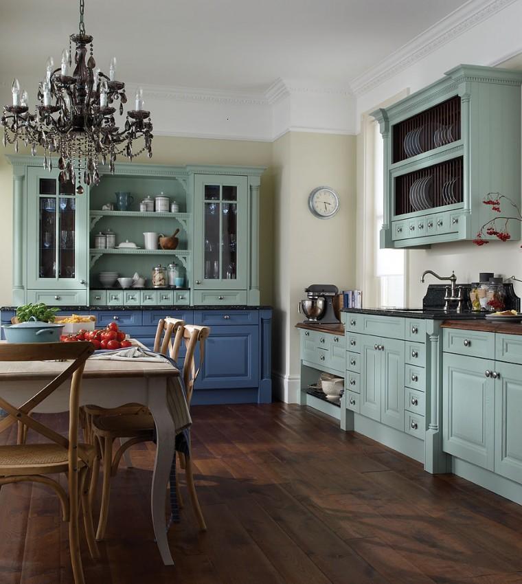 Decoraci n de cocinas chicas ideas para ahorrar espacio - Muebles de cocina estilo retro ...