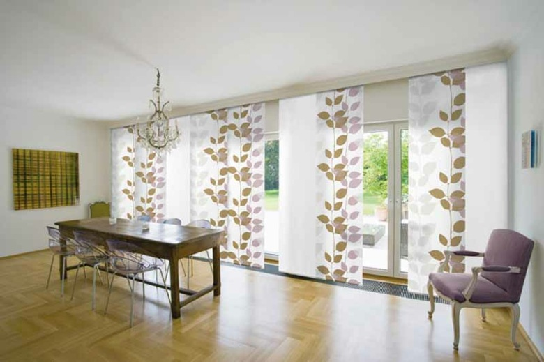 diseño cortinas comedor estilo moderno