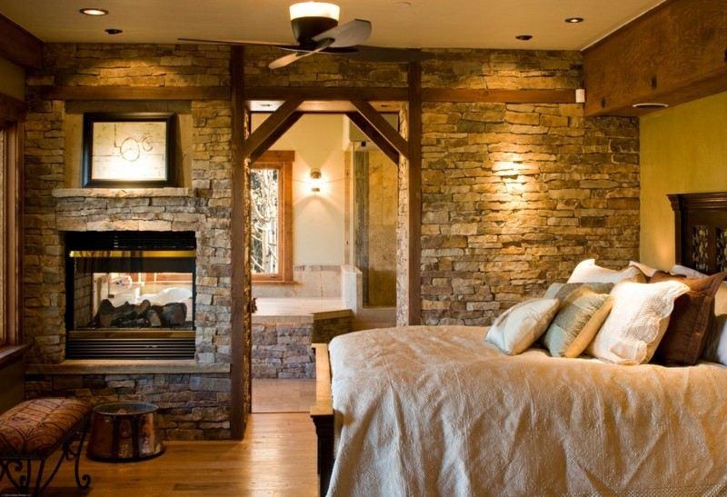 Decoracion de dormitorios rusticos madera y piedra - Decoracion de techos rusticos ...