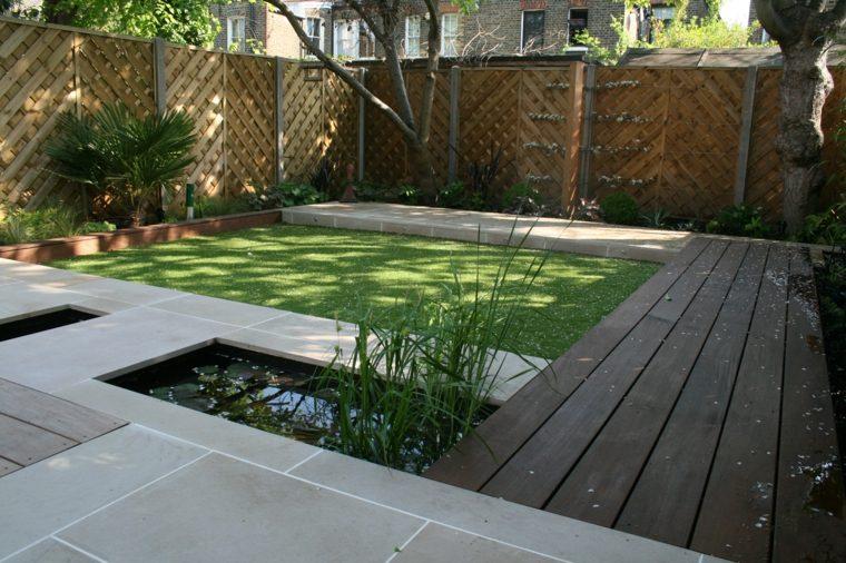 patio terraza banco integrado