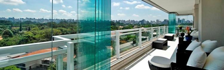 diseño acristalamiento terraza paneles vidrio