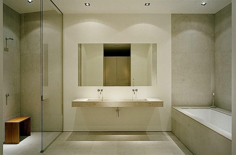 revestimiento baño mármol travertino