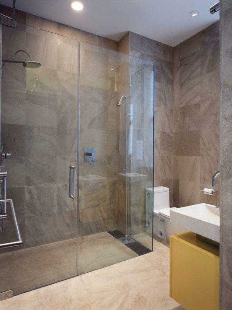 Ba os peque os con ducha 38 dise os de moda - Banos modernos pequenos con ducha ...