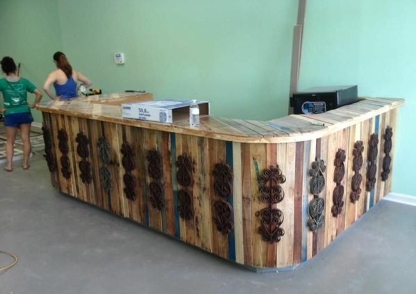 bar madera palet colores