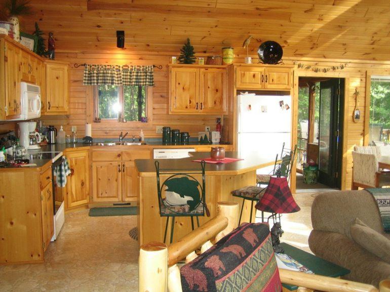 diseño cabaña madera cocina m,adera
