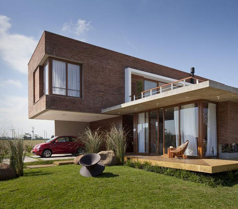 Porches para terrazas modelos de espacios semicubiertos for Casa moderna ladrillo