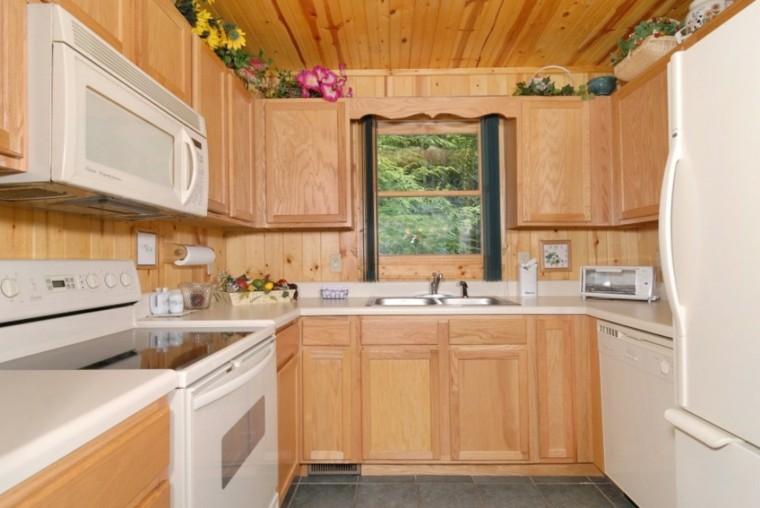 diseño cocina blanco madera