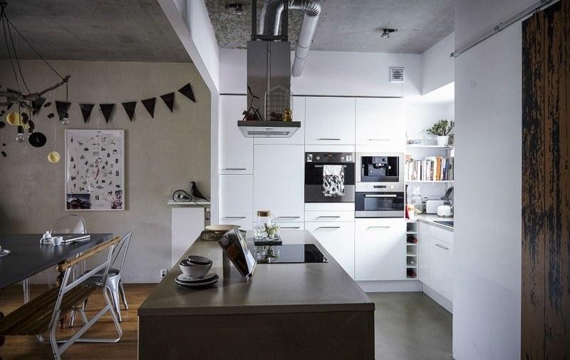diseño cocina moderna estilo industrial