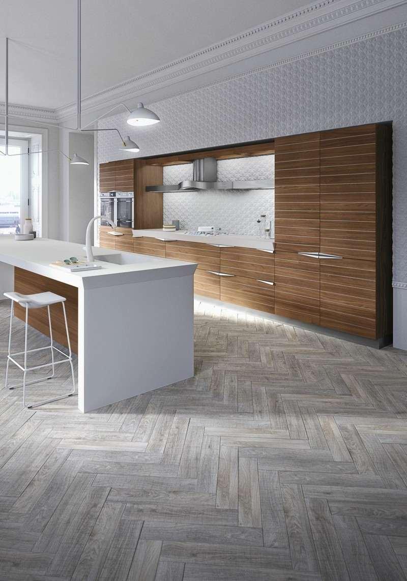 diseño cocina madera blanco