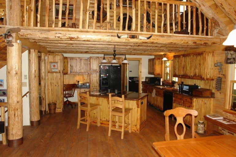 diseño cocina rñústica madera natural