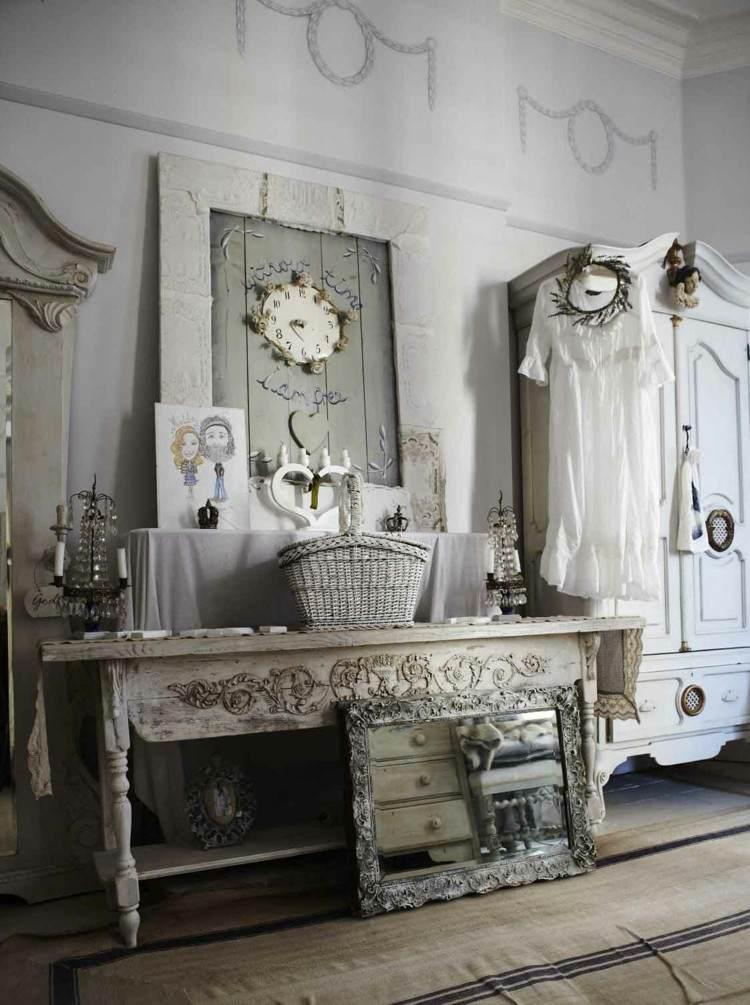 diseño comoda ramas estilo espejos blanco