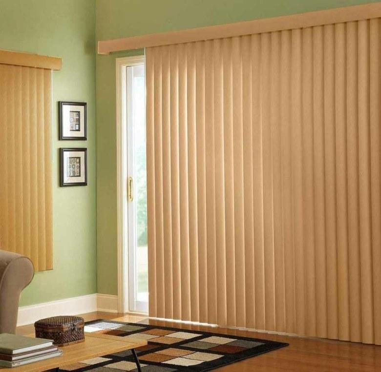 diseño cortinas bandas color beige