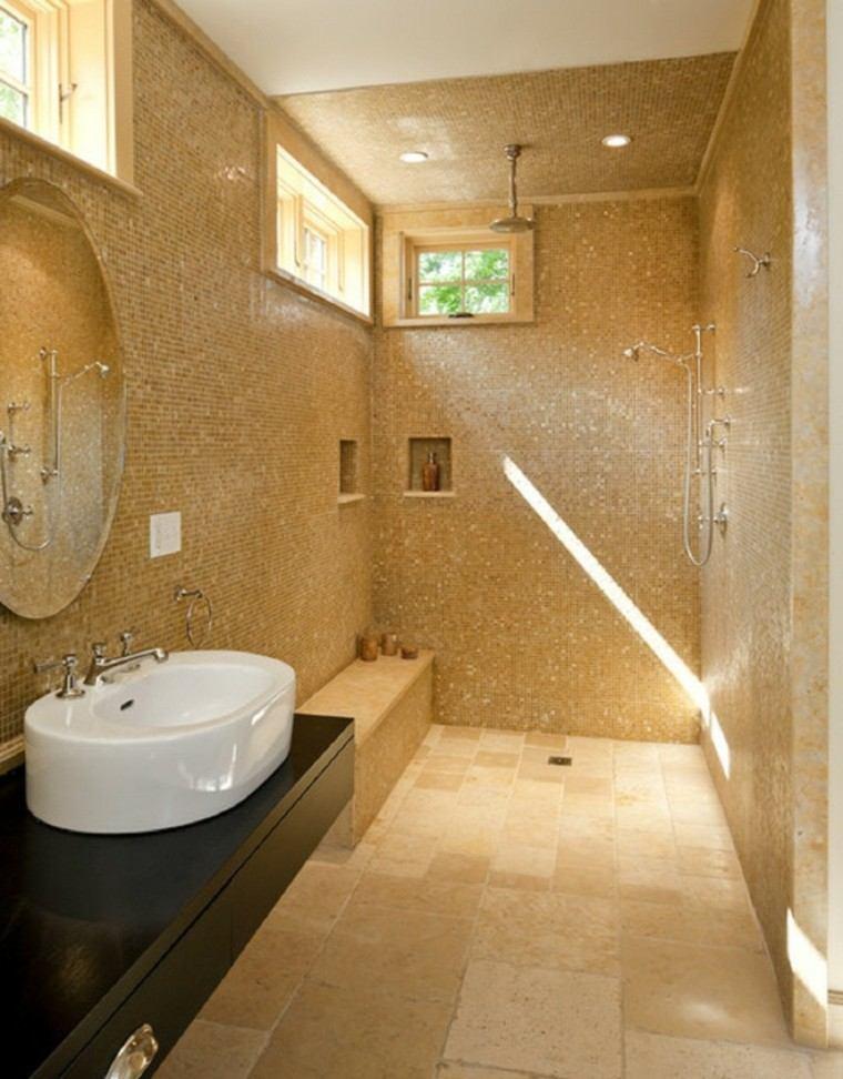 diseño cuarto baño mosaico colores