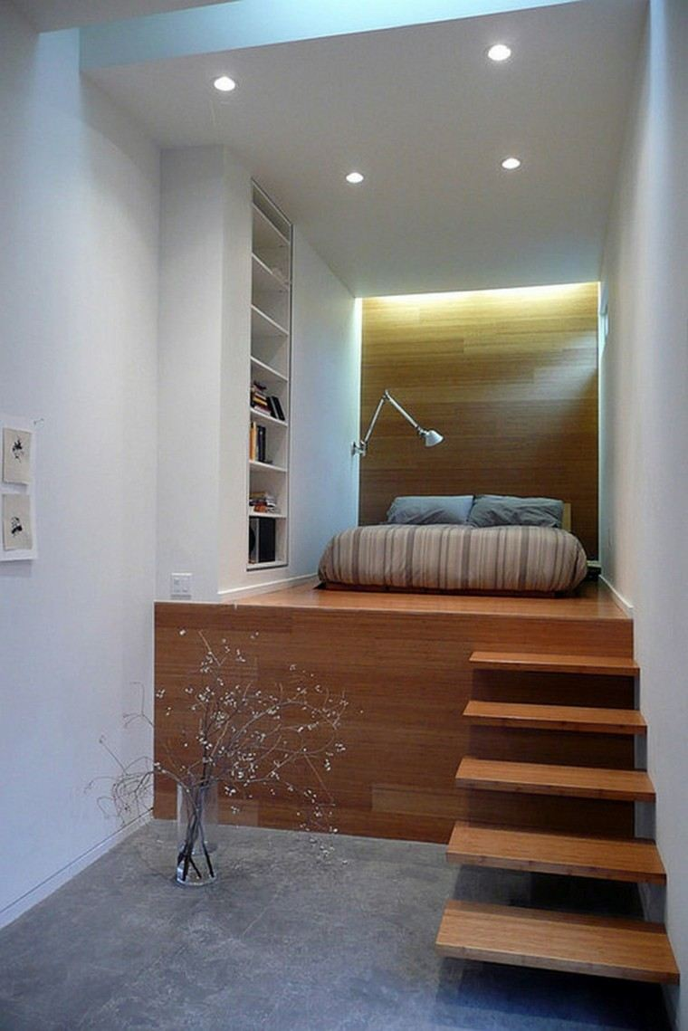 diseño cuarto cama madera laminada