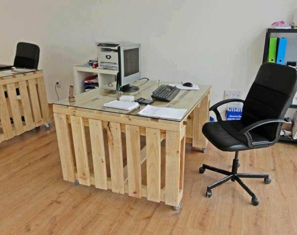 escritorio oficina palet madera