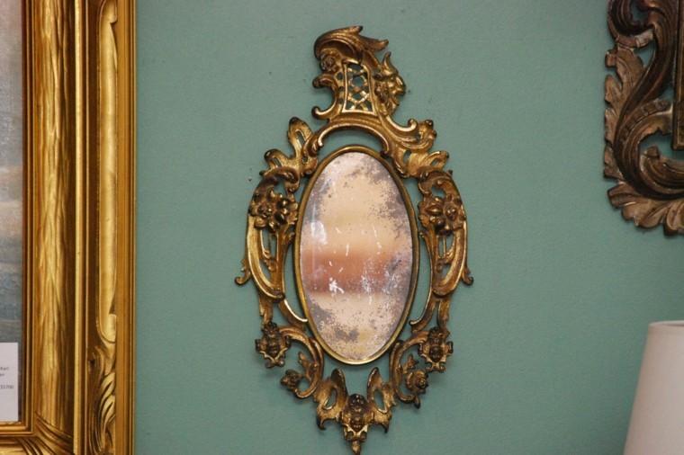 diseo espejo dorado retro