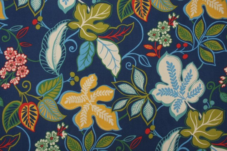 blue patterned design