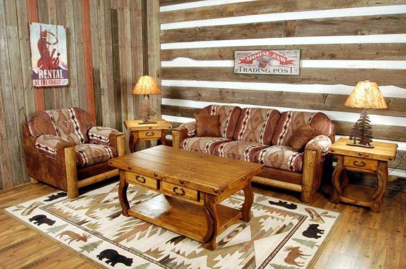 diseño étnico cabaña madera