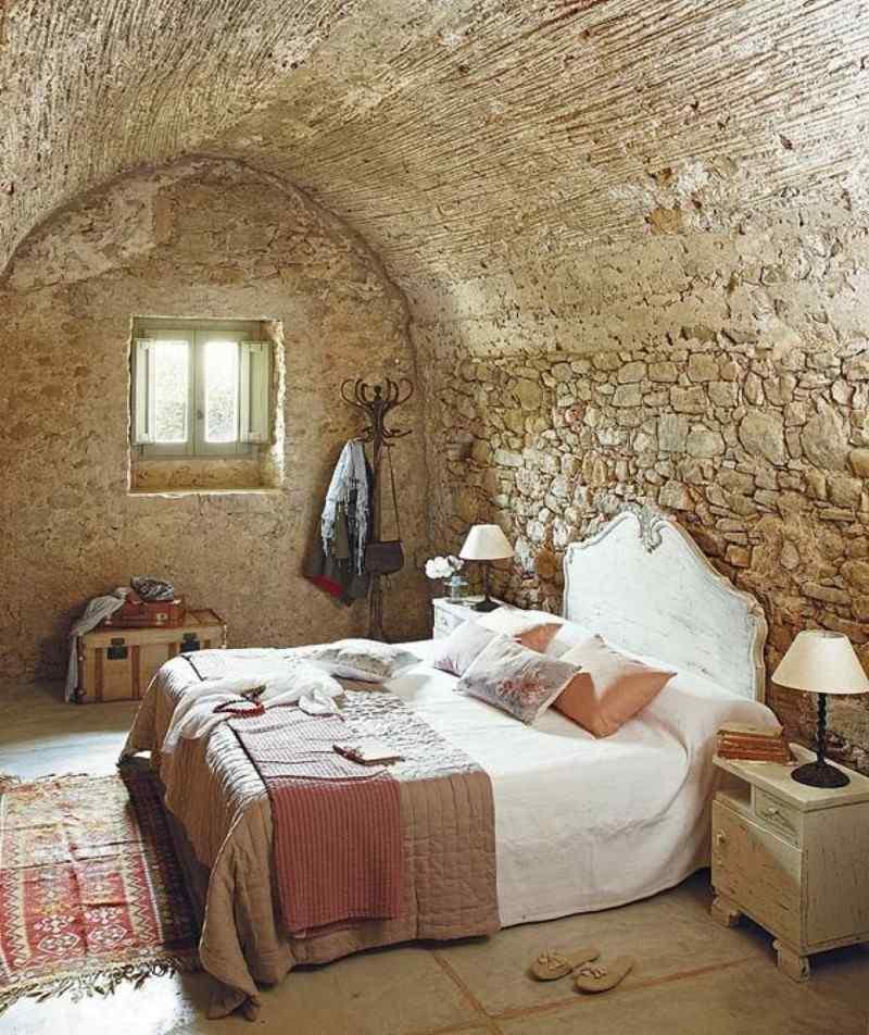 diseño habitación cueva piedra