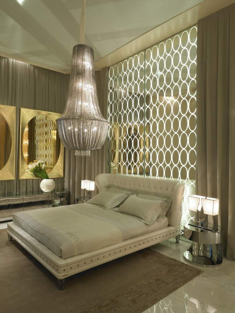 diseño habitacion beige estilo lujoso