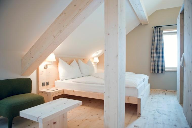 diseño habitacion madera natural
