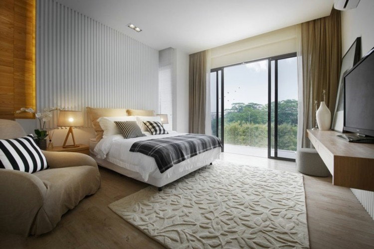 diseño habitaciones bonitos colores neutros