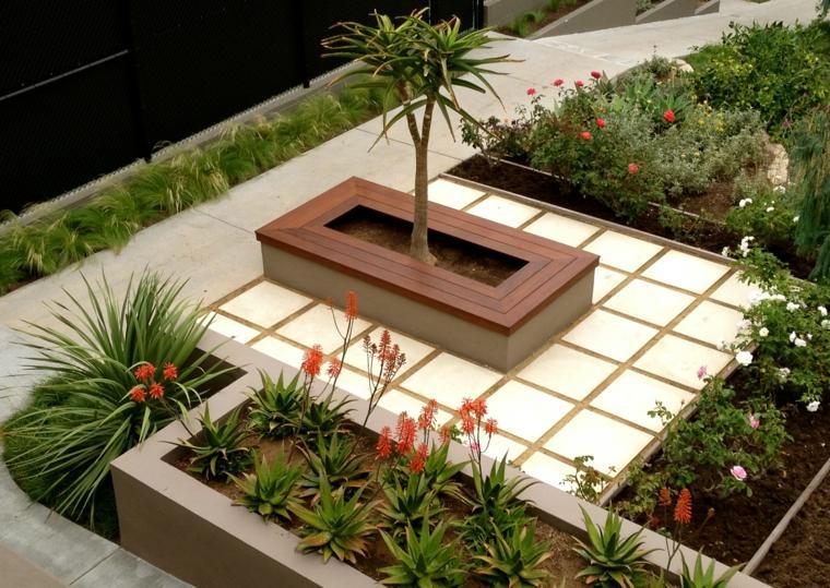 Banco para terraza el asiento perfecto para el exterior - Jardineras de obra exterior ...