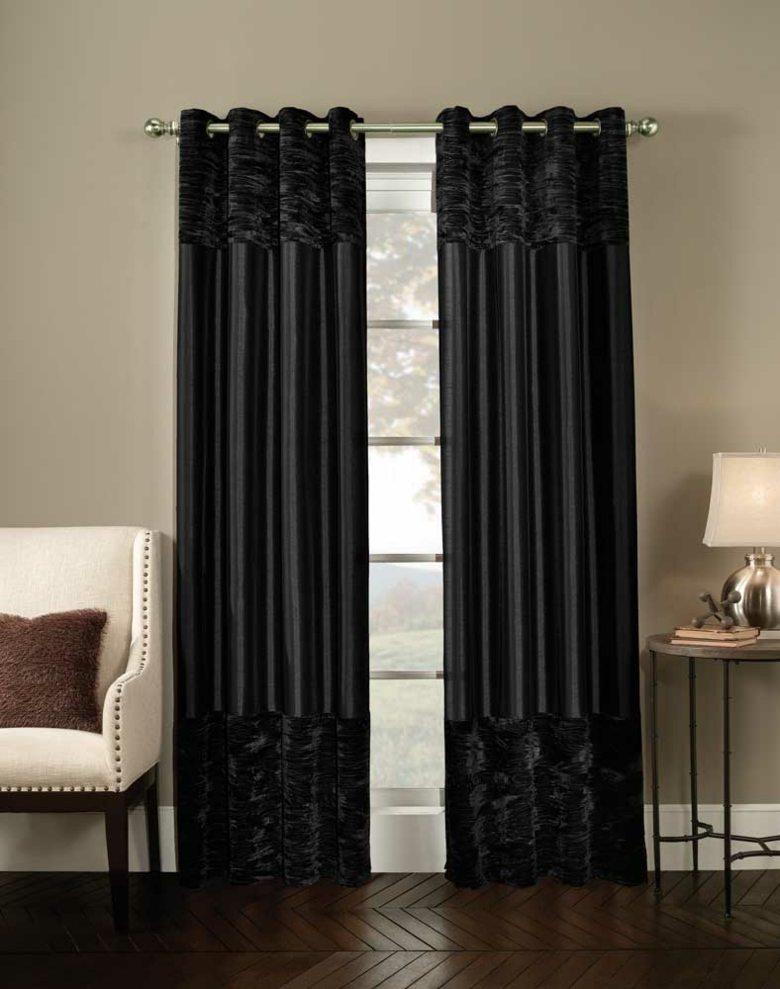 diseño lujoso cortinas negras terciopelo
