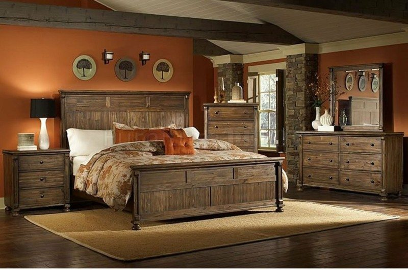 diseño mueble madera habitación rústica