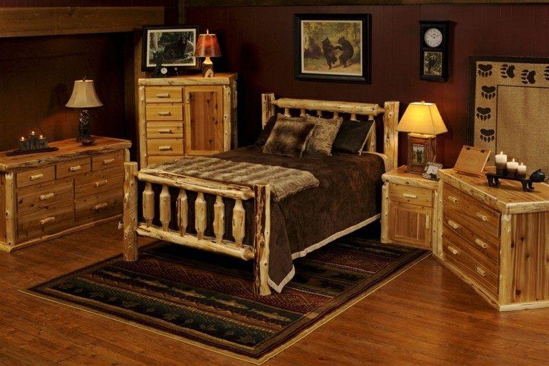 Decoracion de dormitorios rusticos madera y piedra - Muebles de madera natural ...